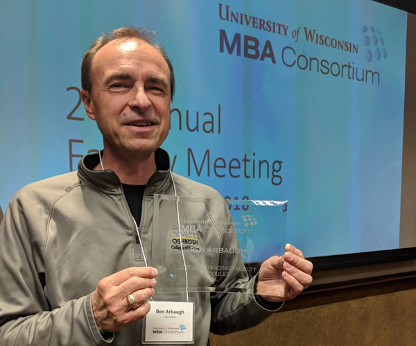 2018 UW MBA Consortium Faculty Meeting - Ben Arbaugh